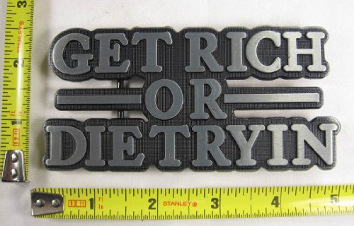 Get Rich Or Die Tryin Belt Buckle Money Wealthy New