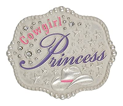 Montana Silversmiths Girls' Cowgirl Princess Attitude Belt Buckle Silver One Size