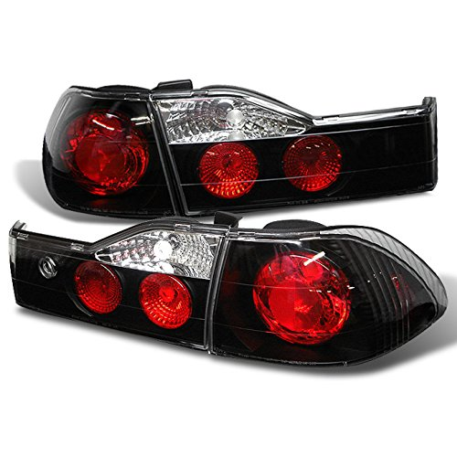 For 2001-2002 Honda Accord 4-Door Sedan JMD Black Tail Brake Lights Rear Lamps Pair