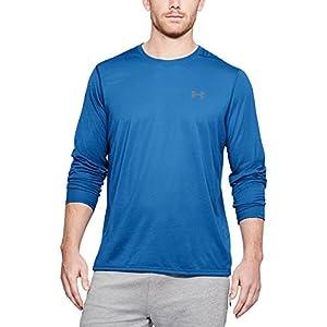 Under Armour Men's Threadborne Siro Long Sleeve T-Shirt, Mediterranean (437)/Graphite, Small