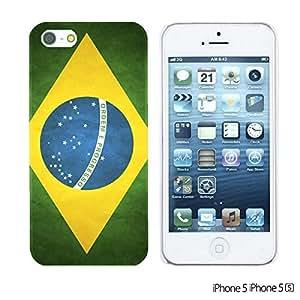 OnlineBestDigitalTM - Flag Pattern Hard Back Case for Apple iPhone 5S / Apple iPhone 5 - Brazil