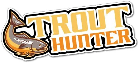 Trout Hunter Fishing Sticker Decal Boat Fishing Tackle 4x4