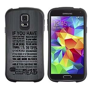 """Hypernova Slim Fit Dual Barniz Protector Caso Case Funda Para Samsung Galaxy S5 [Profundo Tipografía Mensaje""""]"""