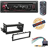 Kenwood In-Dash 1-DIN CD Car Stereo Receiver with Front USB Input W/ CHEVROLET 1999 - 2002 SILVERADO CAR STEREO DASH INSTALL MOUNTING KIT WIRE HARNESS