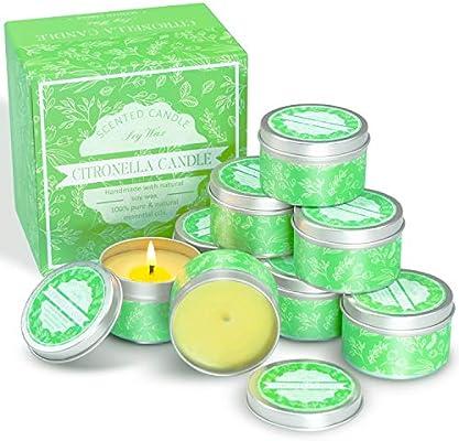 LA BELLEFÉE 8 x Velas de citronela 100% cera de soja Velas de ...