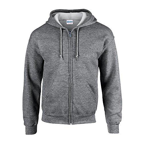 Gildan Heavy Blend Full-Zip Hooded Sweatshirt_Graphite Heather_XX-large ()