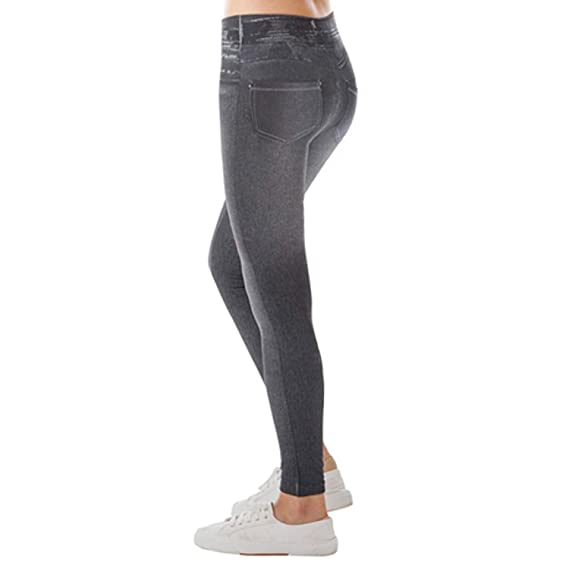 orologio 7833f 22a81 NOPPOR Womens Skinny Jeans High Waist Slim Leggings Denim Stretchy Jeggings  Seamless Yoga Pants
