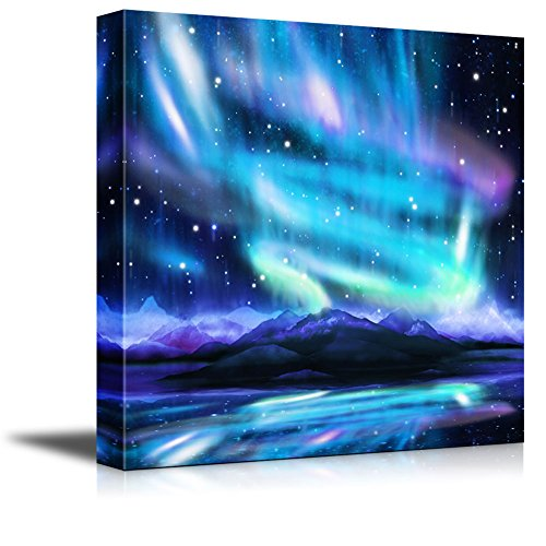 Northern Lights aurora Borealis dramatic Landscape Wall Decor ation