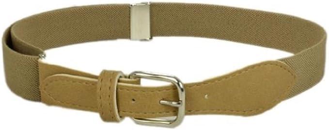 "Girls Leather Belt Kids Beige Size 24/"" 26/"" Waist New"