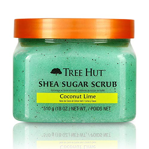 Tree Hut Shea Sugar Body Scrub - Coconut Lime: 18 OZ (Shea Hut Scrub Body Tree)