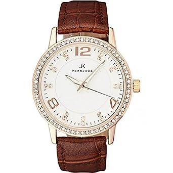 Keine – Armbanduhr Kim & Jade mit Swarovski-Kristallen 2031lgpbw Damen
