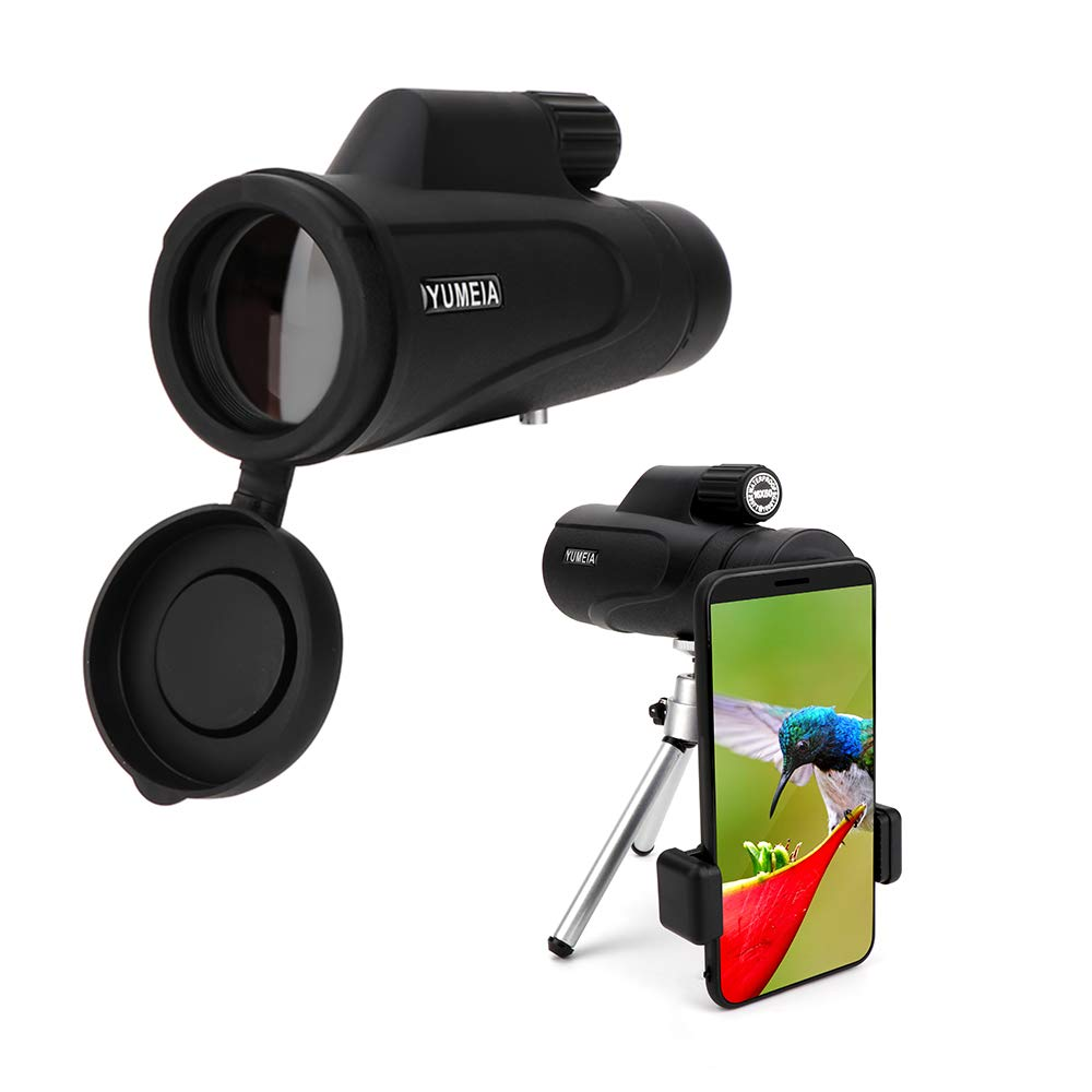 Monocular Telescope - 16X50 High Power Prism Spotting Scope with Quick Smartphone Holder and Tripod - Bird Watching Hunting Wildlife Camping