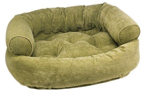 Green Apple Bones Microvelvet Double Donut Bed (X-Large) (Double Donut Bed Microvelvet)