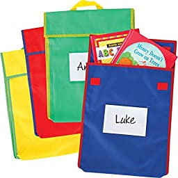 Large Book Pouches - Primary Colors - Set Of 4