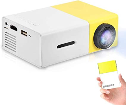 Mini proyector portátil de interior / exterior 1080P LED Proyector ...
