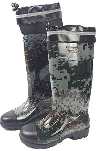 Sole Adult D Rain Waterproof Work Rubber Antiskid Mens Boots Shoes gxtxqAU4Ow