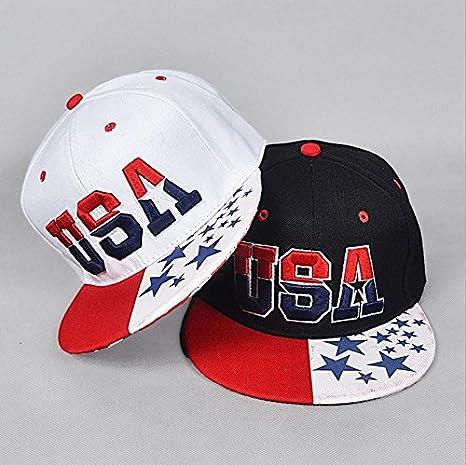 Un par de bandera de Estados Unidos diseño de estrellas gorras de ...