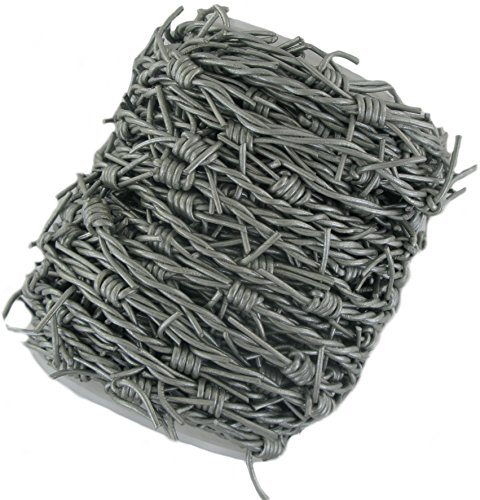 (Silver/Grey Leather Barbed Wire (5)