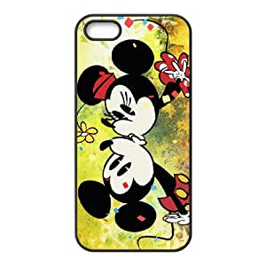 IPhone 5,5S Phone Case for Classic theme Disney Mickey Mouse Minnie Mouse cartoon pattern design GDMKMM940449