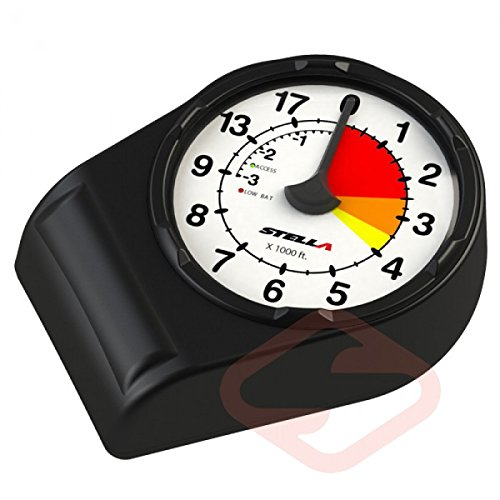 STELLA Electronic Skydiving Altimeter (12000 Feet, analog Altimeter) by Stella
