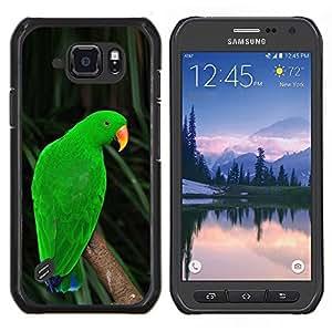 LECELL--Funda protectora / Cubierta / Piel For Samsung Galaxy S6Active Active G890A -- parolee loro tropical naturaleza verde --