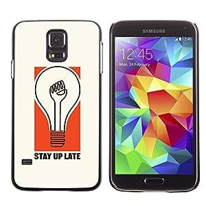 PC/Aluminum Funda Carcasa protectora para Samsung Galaxy S5 SM-G900 Light Bulb Stay Quote Life Attitude / JUSTGO PHONE PROTECTOR