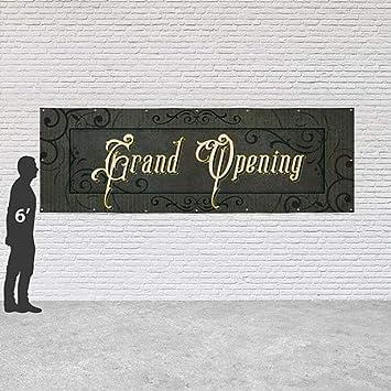Victorian Frame Heavy-Duty Outdoor Vinyl Banner 12x4 CGSignLab Grand Opening