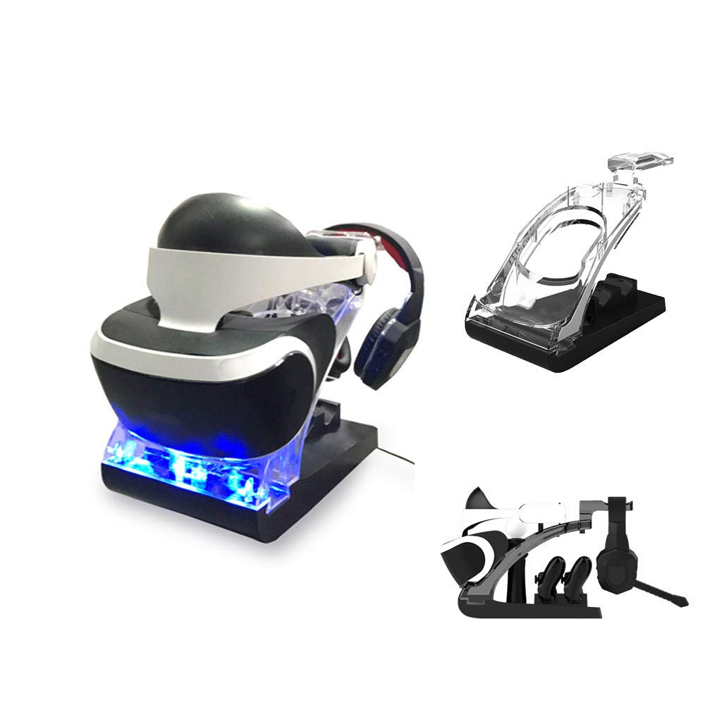 Charging Station Display Stand with Controller Charging Headphone Stand for PS VR