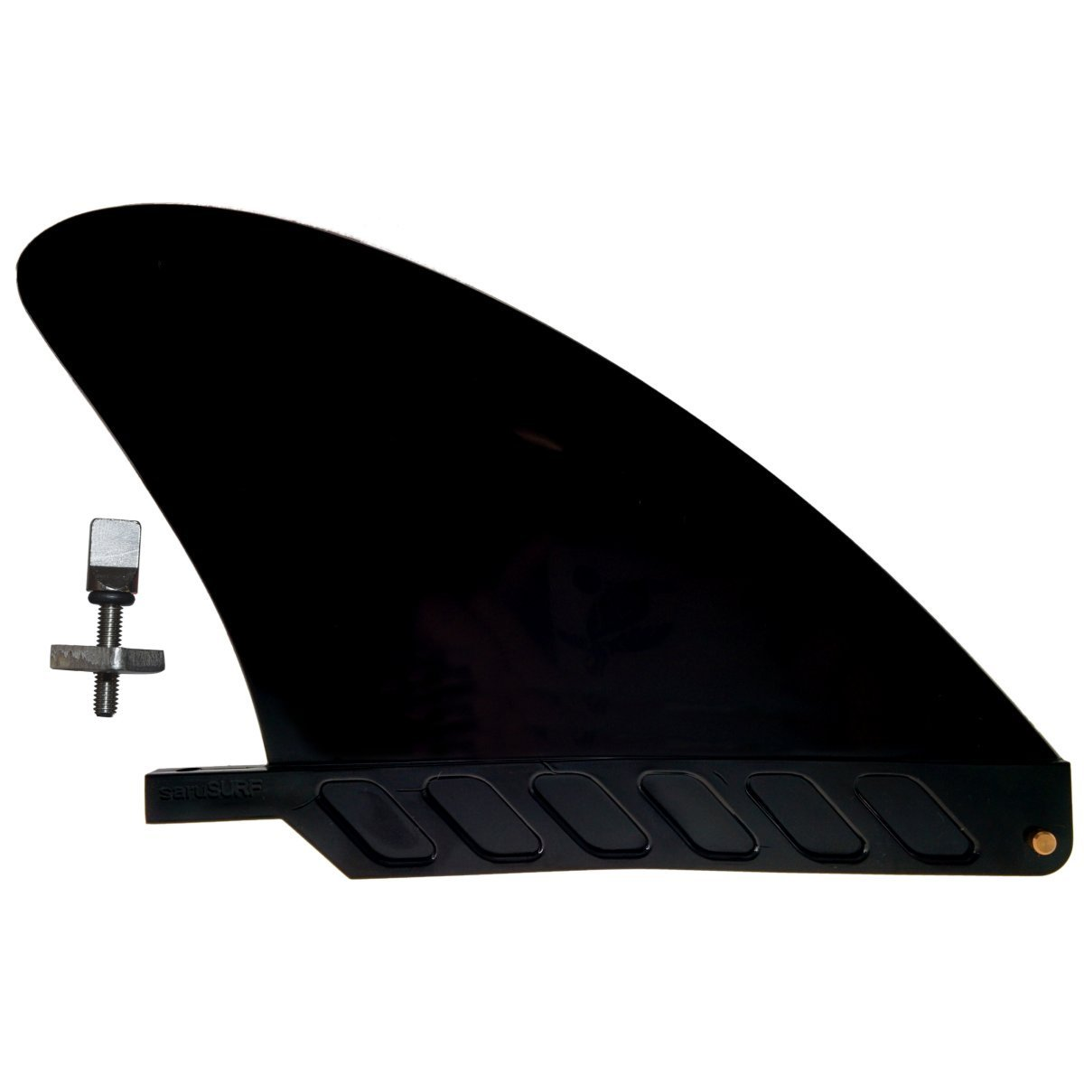 saruSURF US box center stubby fin hard 4.6'' for River SUP/longboard/airSUP Black