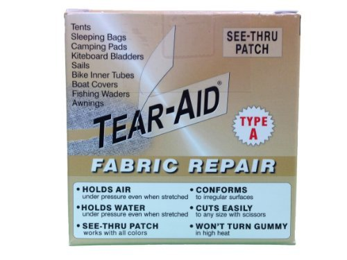 Tear-Aid Repairs Patch Roll Kit for Type A Fabrics by Tear-Aid Repair (Type Aid Tear)