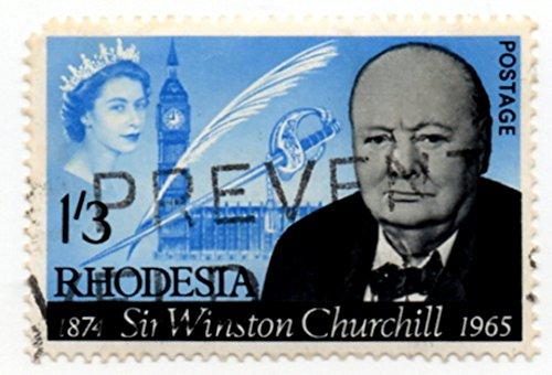 Rhodesia Postage Stamp Single 1965 Churchill QEII Issue 1 Shilling 3 Pence Scott #206