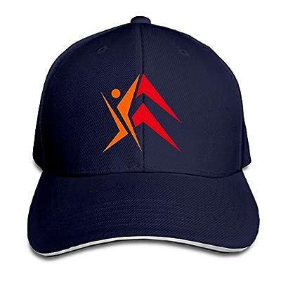 PTCY Round And Rotational Citroen Logo Sandwich Peak Sun Protection Hat Adjustable Cap Navy