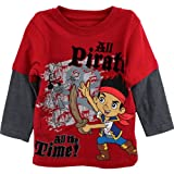: Disney Little Boys' Jake and The Neverland Pirates Screen-Print T-Shirt, Red, 4T