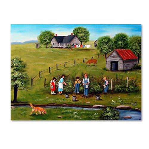 Pickin' Blackberries 5 by Arie Reinhardt Taylor, 24x32-Inch Canvas Wall Art ()