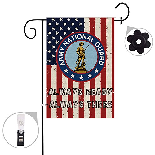 Hexagram National Guard Garden Flag Burlap Double Sided Mili