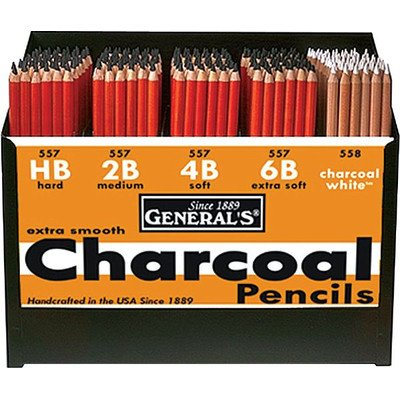 Charcoal Pencil Display by General