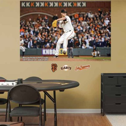 MLB San Francisco Giants Matt Cain Perfect Game Mural Wall Graphics