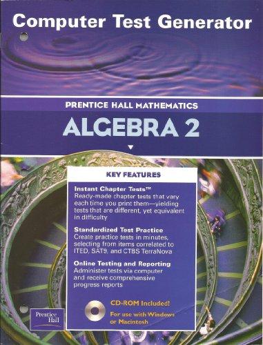 Multimedia Generator (Computer Test Generator: Algebra 2 (Prentice Hall Mathematics))