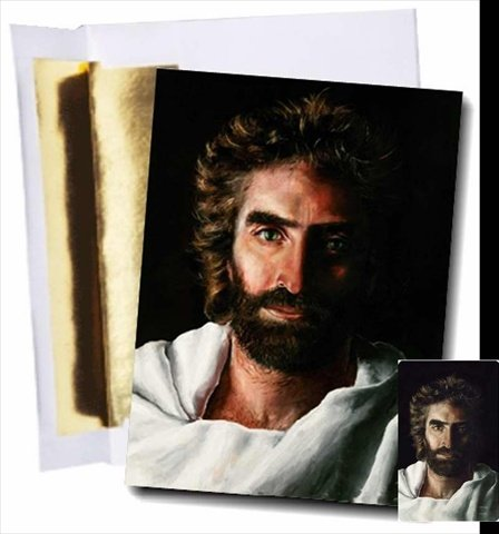 Prince of Peace - Single Note Card with Gold Foil Lined Envelope and Wallet Card - Jesus By Akiane - As Seen in Heaven Is for (Wallet Note Cards)