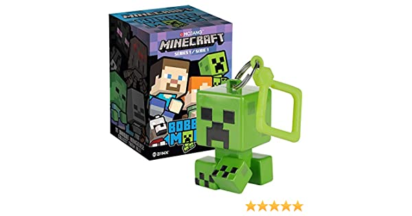 JINX Minecraft Bobble Mobs Key Chain Blind Box (One Mystery Figure), Series 1 Collectible
