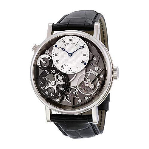 Breguet Tradition GMT Manual Silver Skeleton Dial Men's Watch 7067BB/G1/9W6
