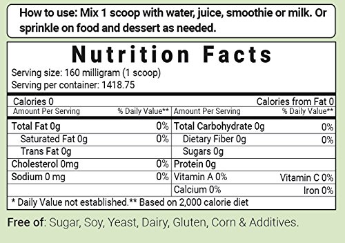 Pure Organic Stevia Powder, 8 Ounce, 1418 Serving, 0 Calorie, Natural Sweetener and Sugar Alternative, No GMOs and Vegan Friendly by Micro Ingredients (Image #8)