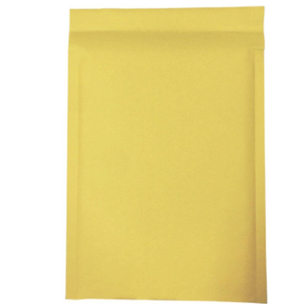 Sac rembourr/é en papier 120 x 180mm R/ésistant /à lhumidit/é Lot de 10 pochettes /à enveloppes jaunes avec rembourrage et fermeture auto-adh/ésive
