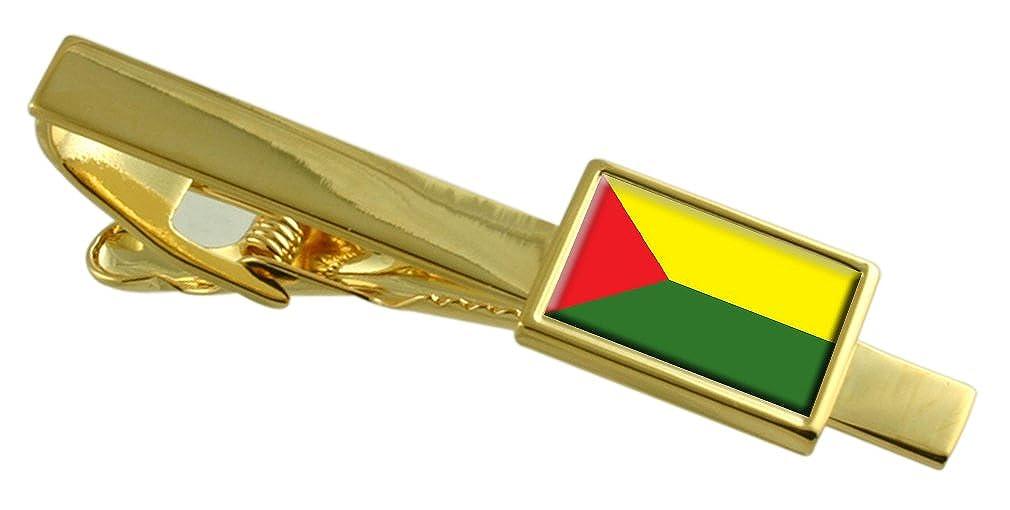 Santa Rosa City Ecuador Flag Gold-tone Tie Clip