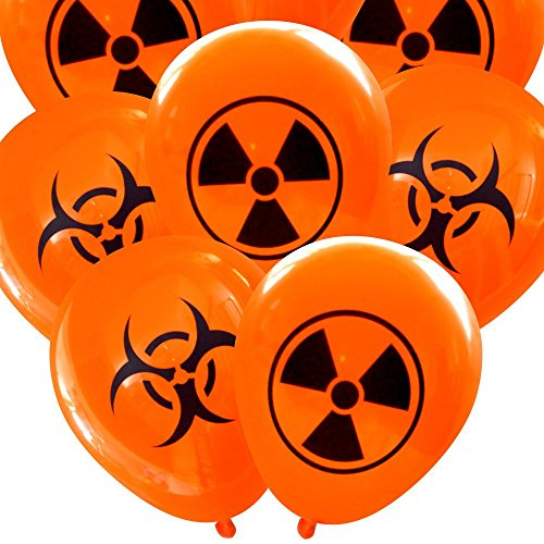 Radioactive and Biohazard Halloween Latex Balloons (16 pcs) by Nerdy Words