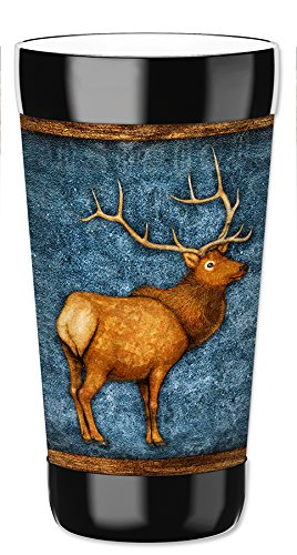 Mugzie 16 Ounce Travel Mug/Drink Cup with Removable Insulated Wetsuit Cover - Elk