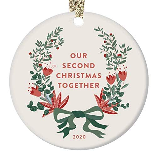Amazon.com: Our 2nd Christmas Together Ornament 2020 ...