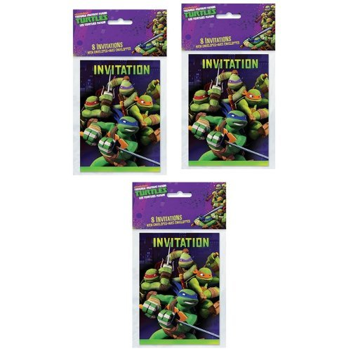 TMNT Teenage Mutant Ninja Turtles Party Invitations - 24 Guests