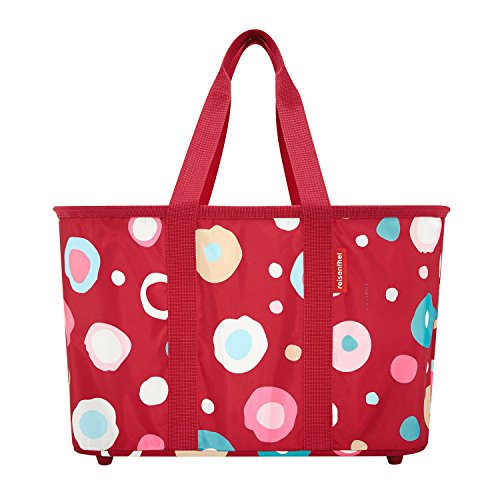 Reisenthel BV7003 - cesta, 47 x 30 x 29 cm, color: Negro funky dots 2 - rot