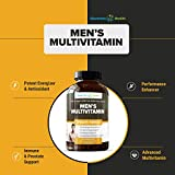 Mens Daily Multivitamin Supplement - Vitamins A C D E B1 B2 B3 B5 B6 B12, Saw Palmetto, Zinc, Selenium, Spirulina, Calcium, Lutein, Magnesium, Green Tea, Biotin. Natural Non-Gmo for Men 60 Capsules